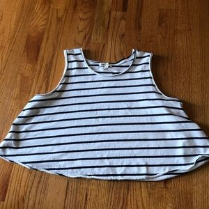Silence and Noise striped crop tank